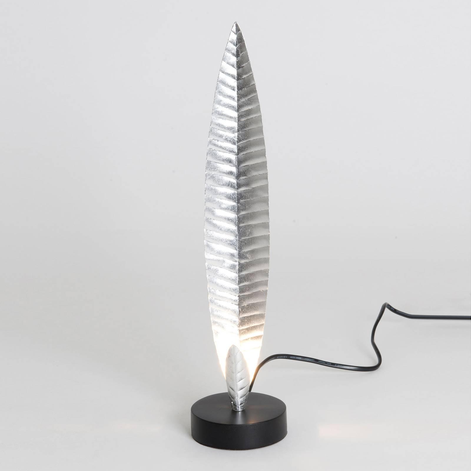 Tischleuchte Penna silber Höhe 38 cm