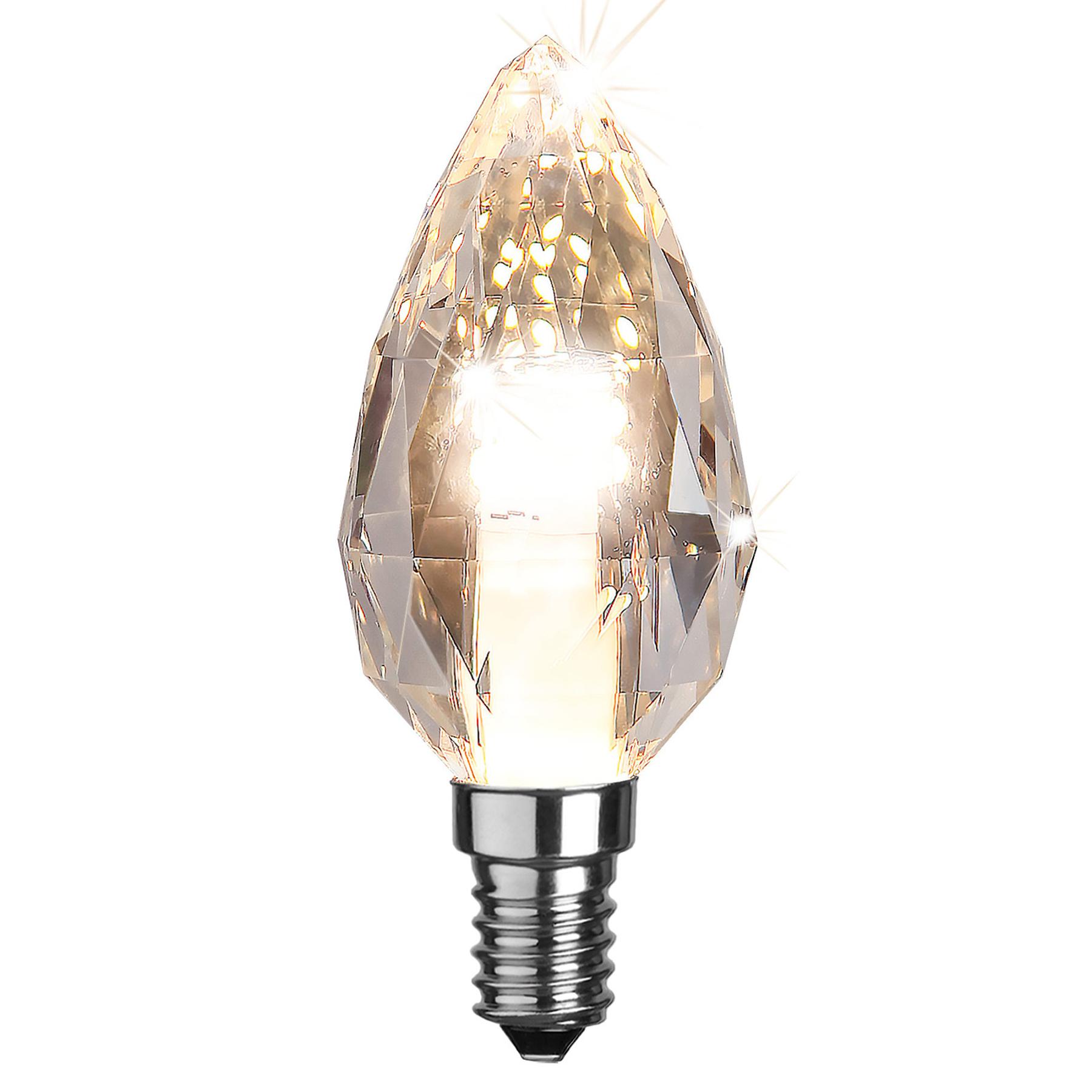 LED-Kerzenlampe E14 4W Diamantschliff, dimmbar