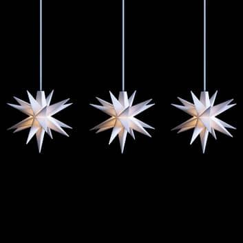 Cadena luces LED estrellas interior 3 luces blanco