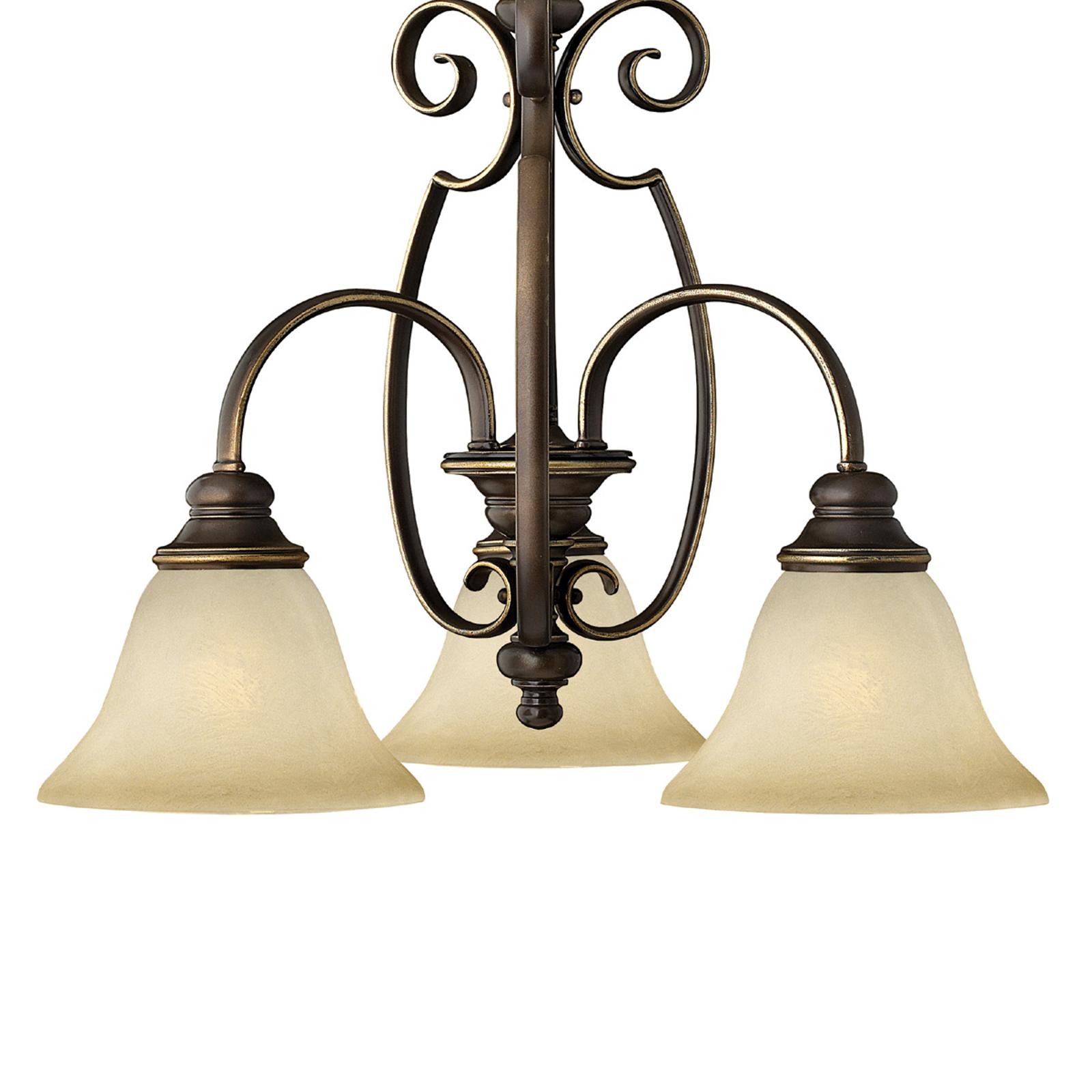 Kolmen lampun CELLO-riippuvalaisin