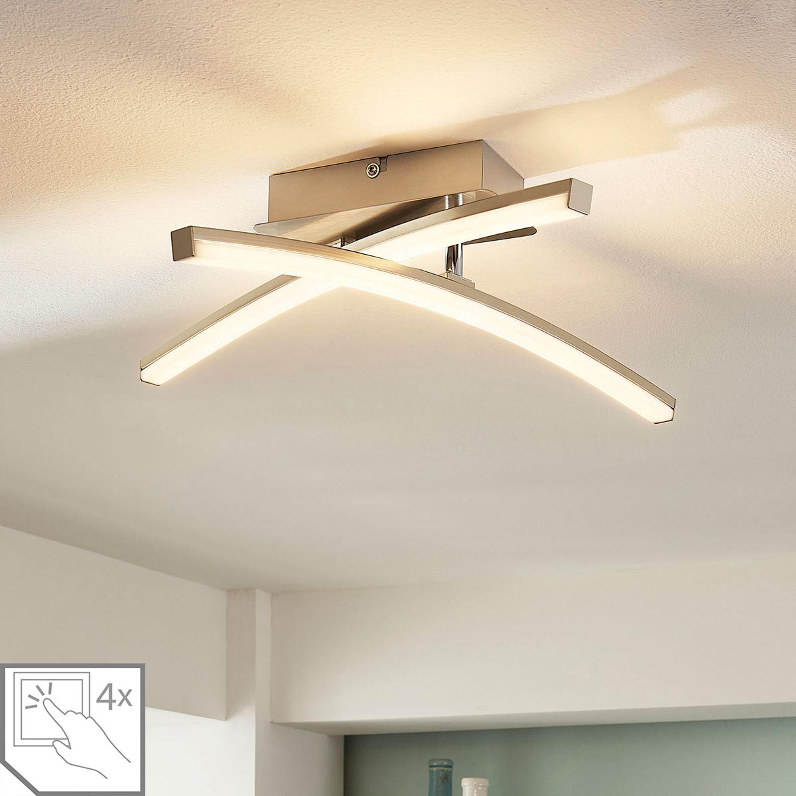LED loftlampe Laurenzia, dæmpbar i 4 trin