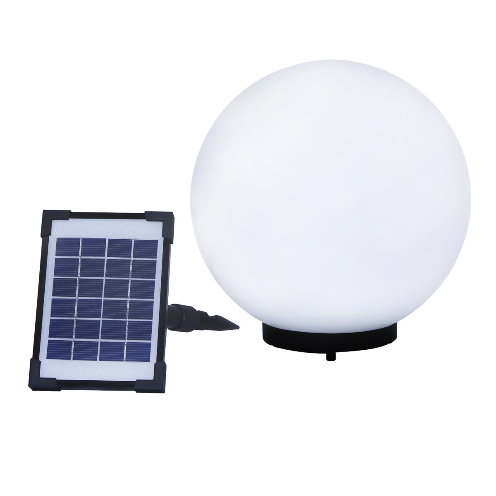 Dekorativ solcelledrevet lyskule Mega Ball 30 cm
