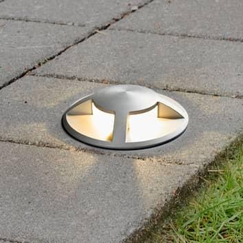 Spot encastrable dans le sol LED Anina, aluminium