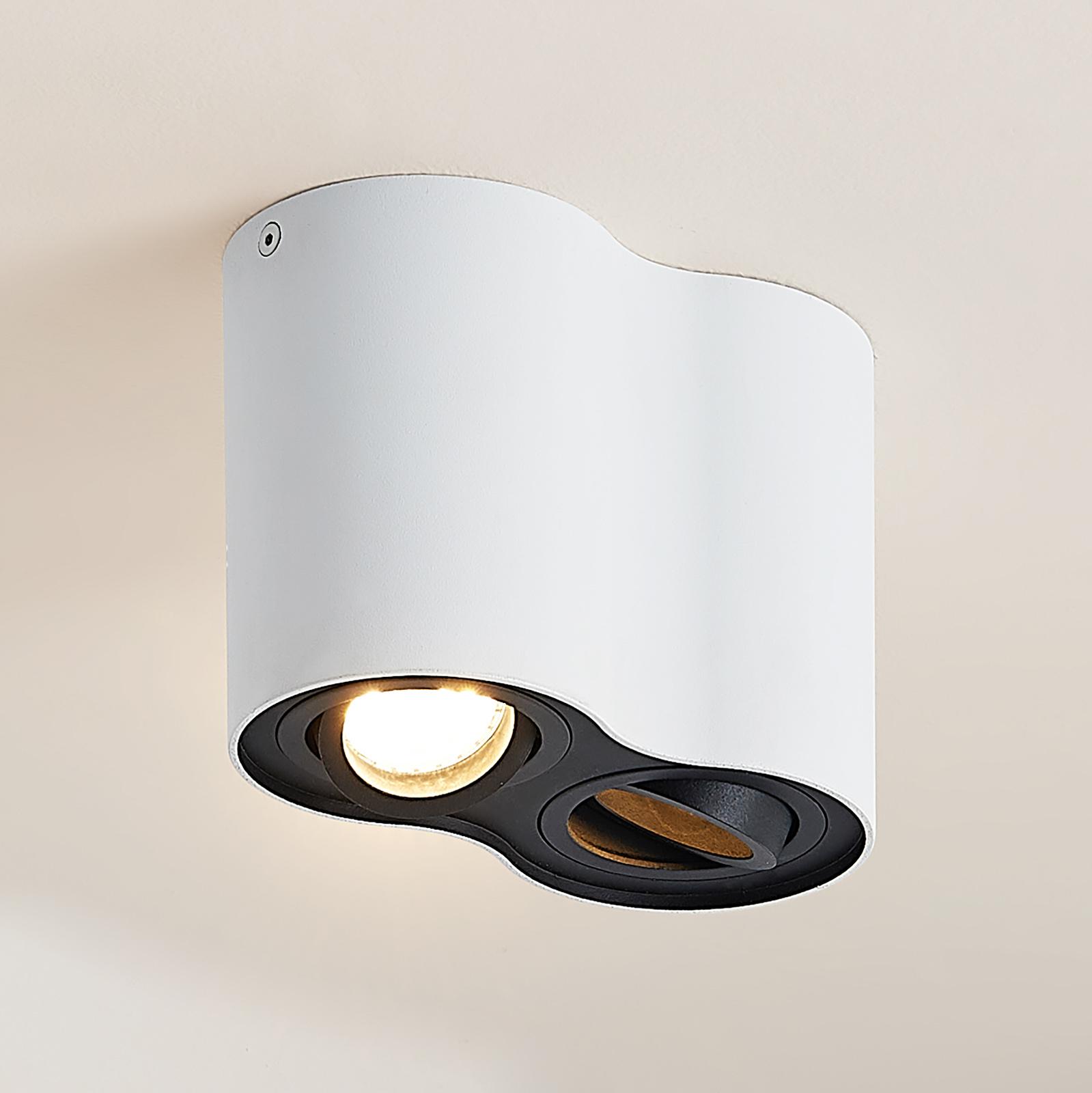 Arcchio Hermalina taklampe, rund, 2 lyskilder