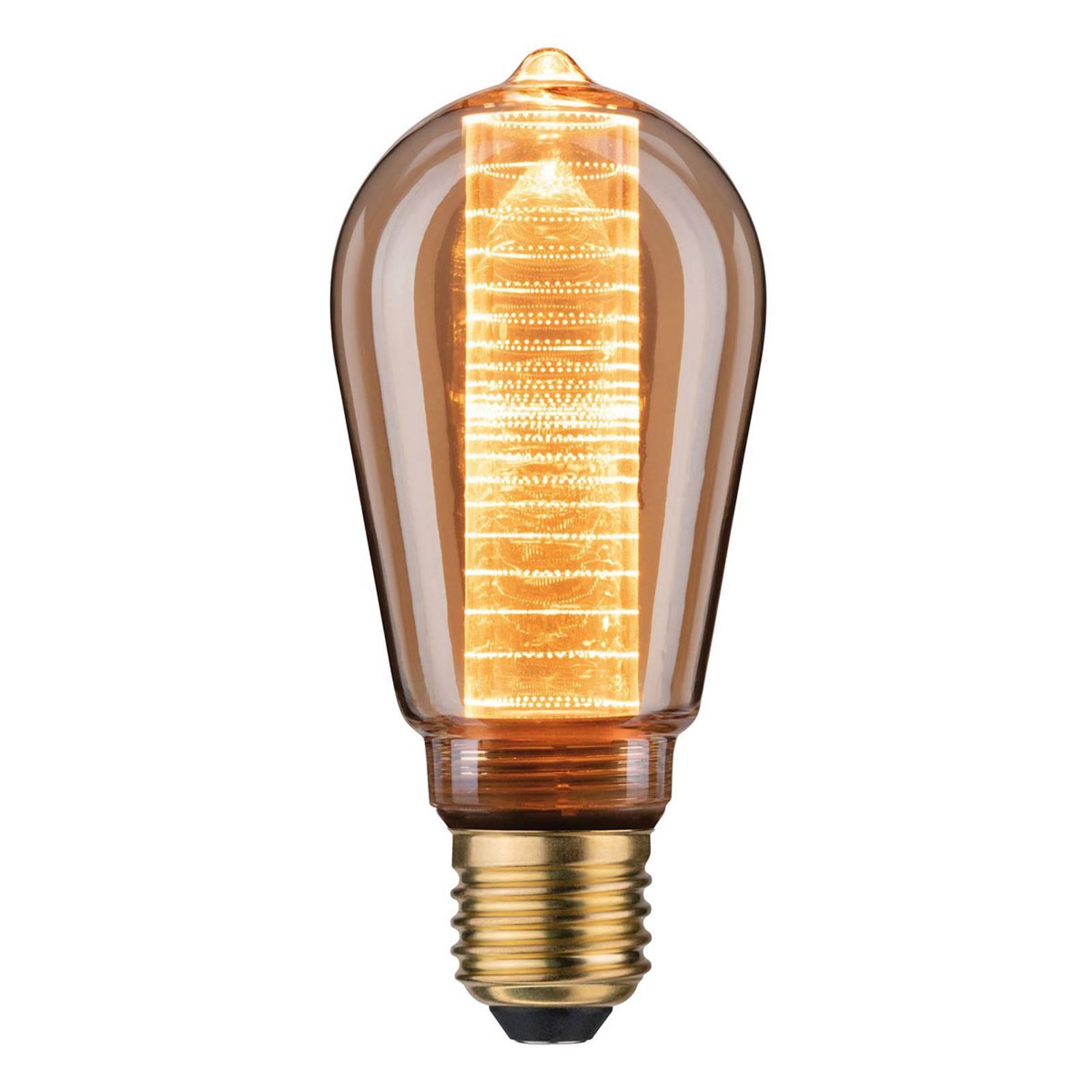 LED E27 ST64 4W Inner Glow filamento anelli