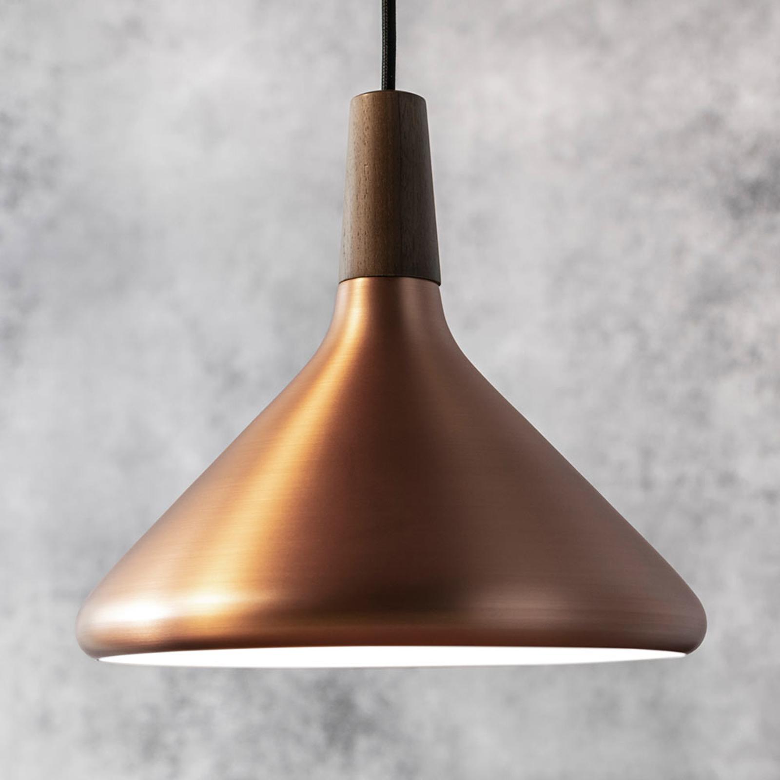 27 cm - koperkleurige hanglamp Float