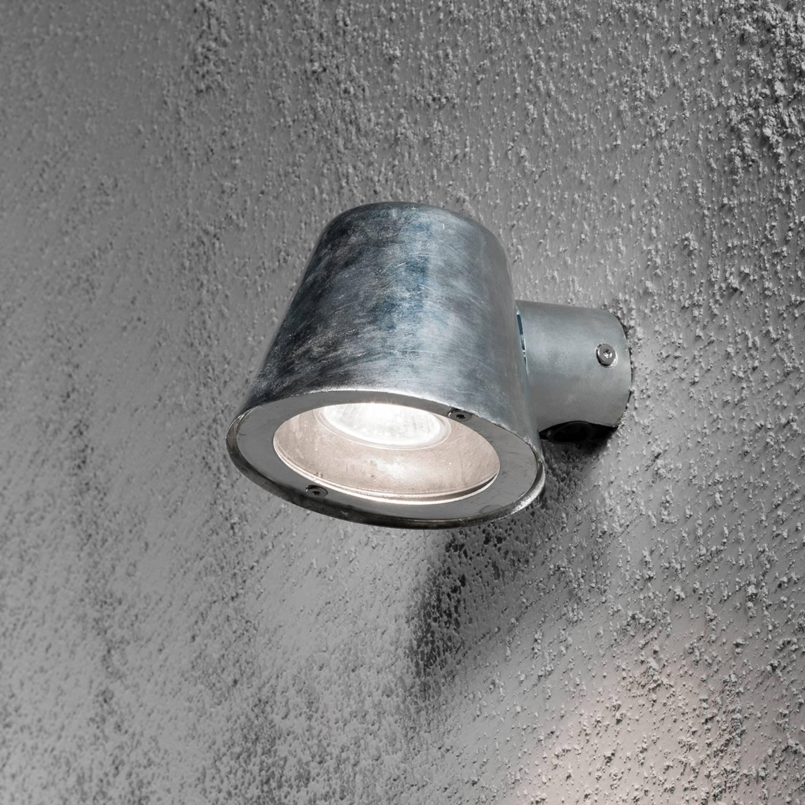 Außenwandleuchte Trieste aus Stahl, galvanisiert