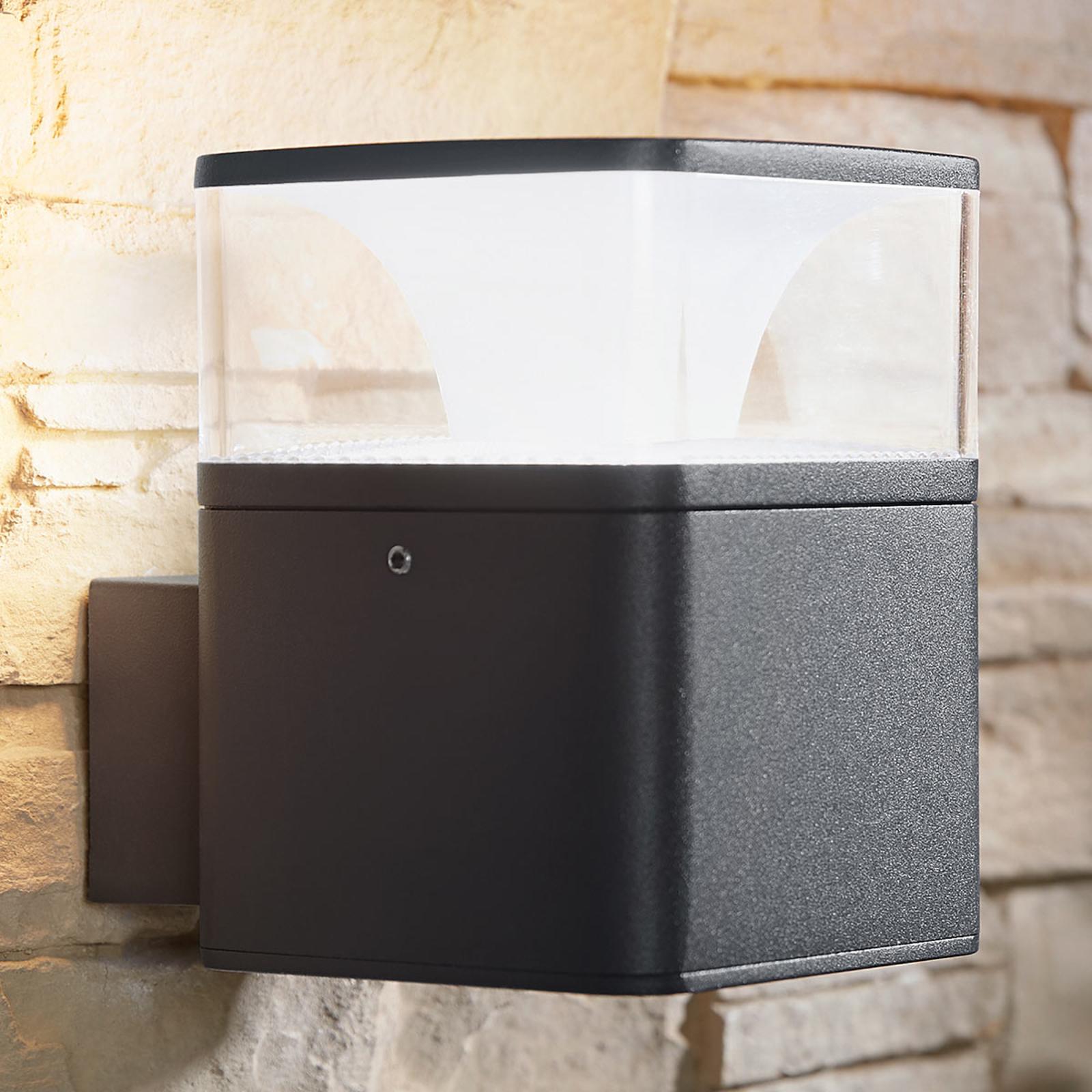 Utendørs LED-vegglampe Lidia i aluminium