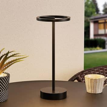 Lucande Halona lampada LED da tavolo, USB, nero