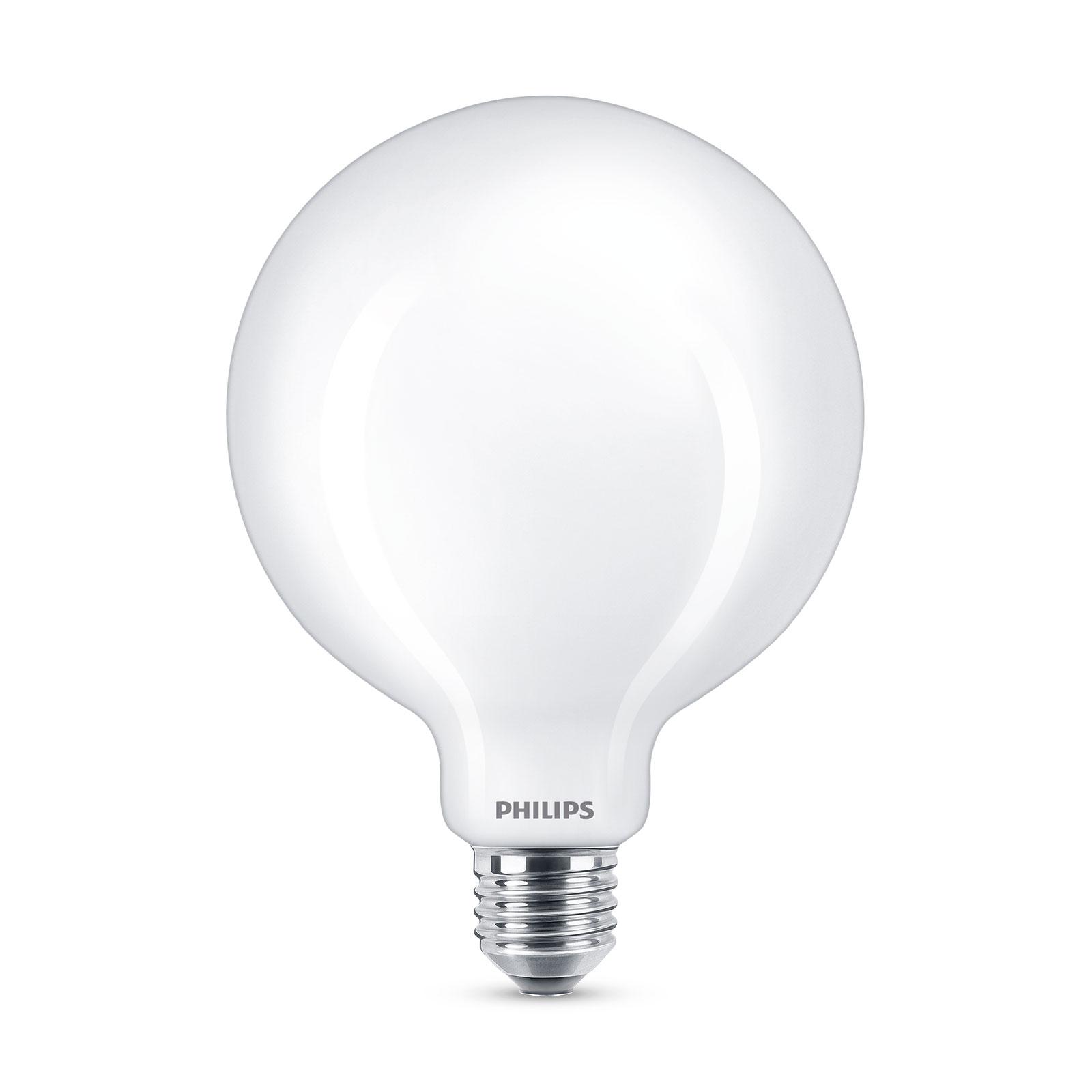 Philips Classic LED-Lampe E27 G120 7W 2.700K opal