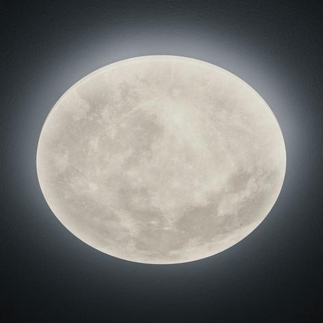 LED-taklampe Lunar med fjernkontroll