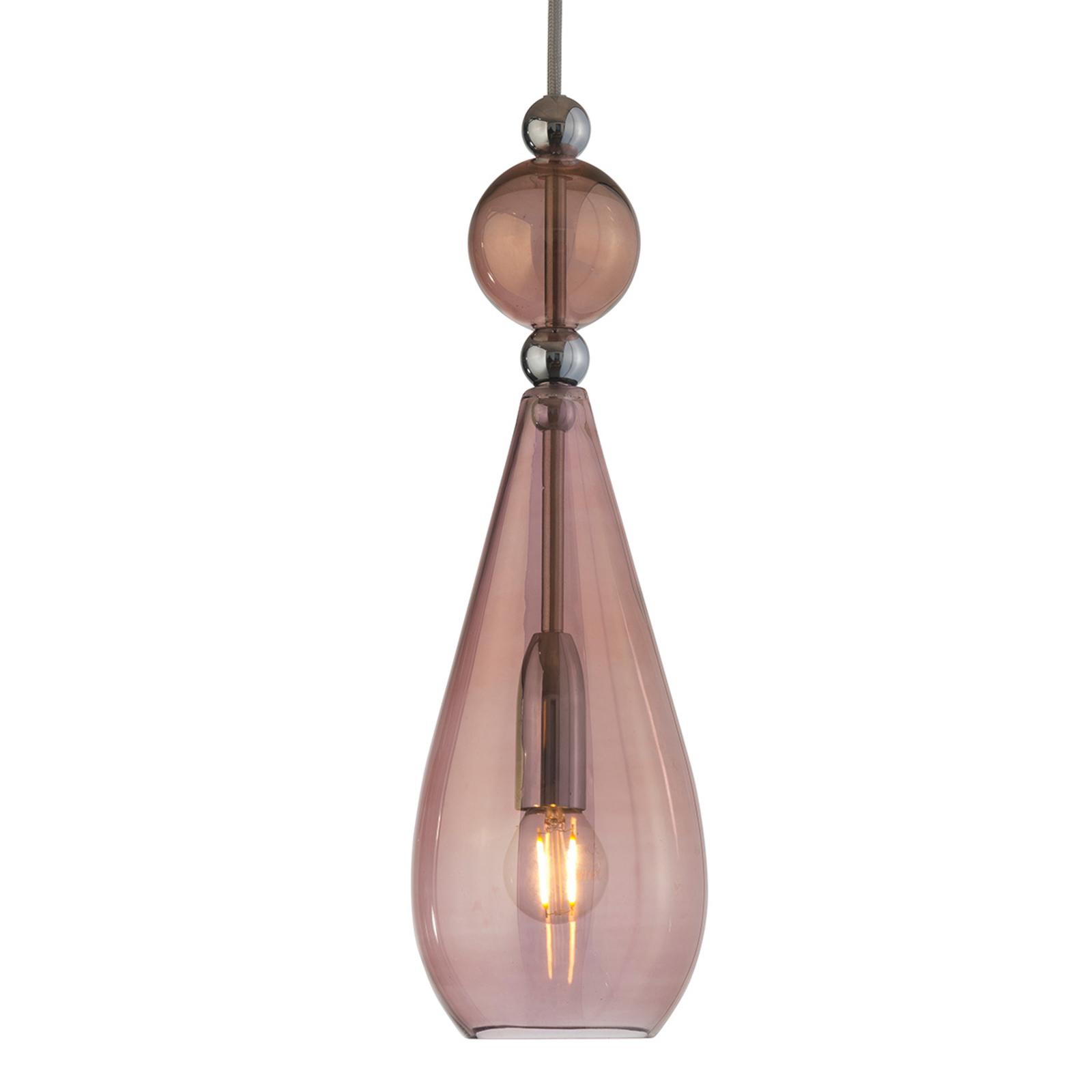 EBB & FLOW Smykke hanglamp zilver, bruin-rosé