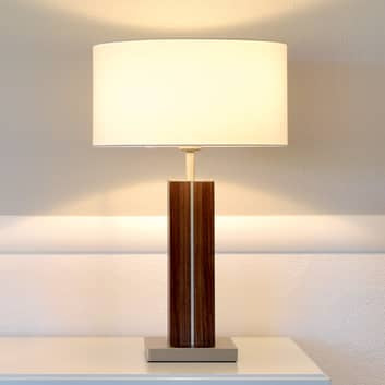 HerzBlut Dana bordlampe, træfod af nøddetræ