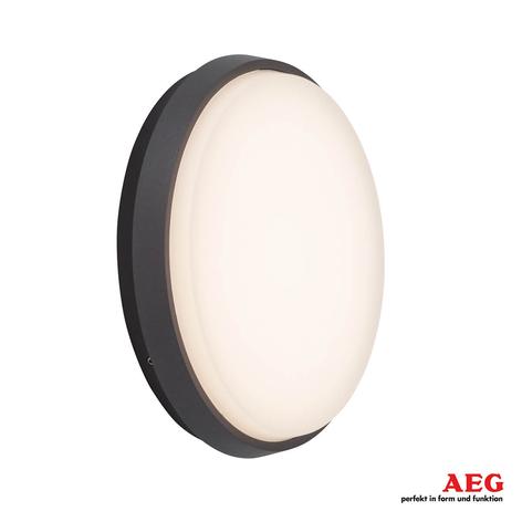 Effektiv LED udendørs væglampe Letan Round