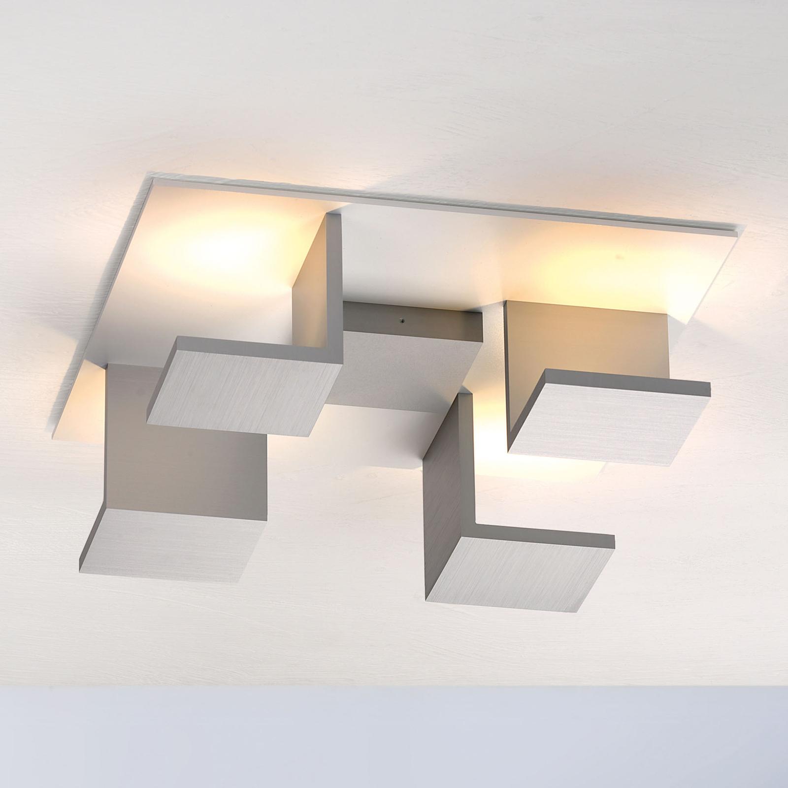 Bopp Reflections taklampe firkantet hvit/alu