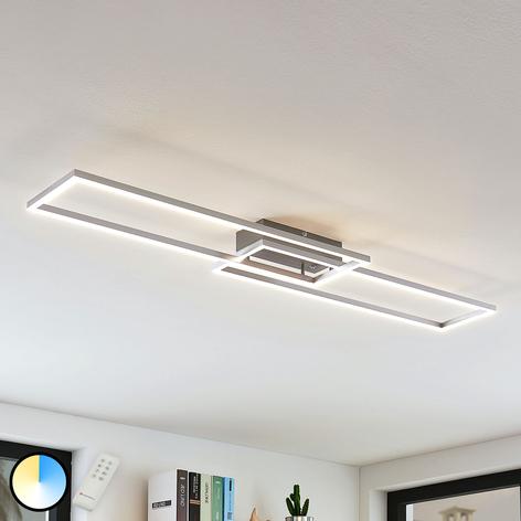 Plafoniera LED Quadra dimmerabile a 2 luci, 110 cm