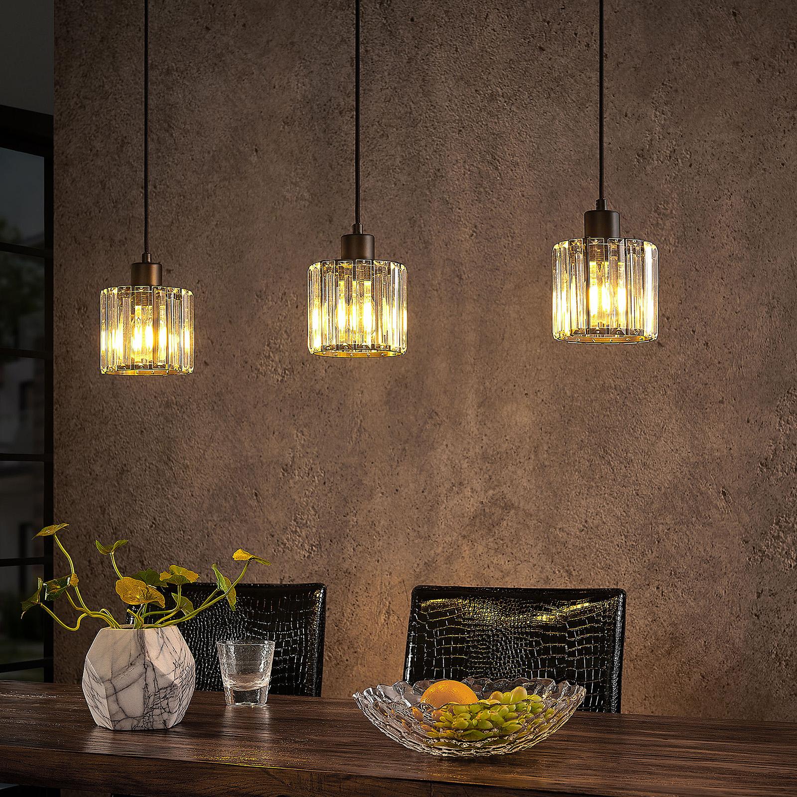 Lindby Vella lampa wisząca z przezroczystym szkłem