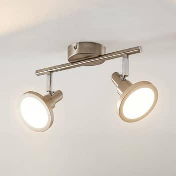 Lindby Unnur LED-spotlight, 2 lampor