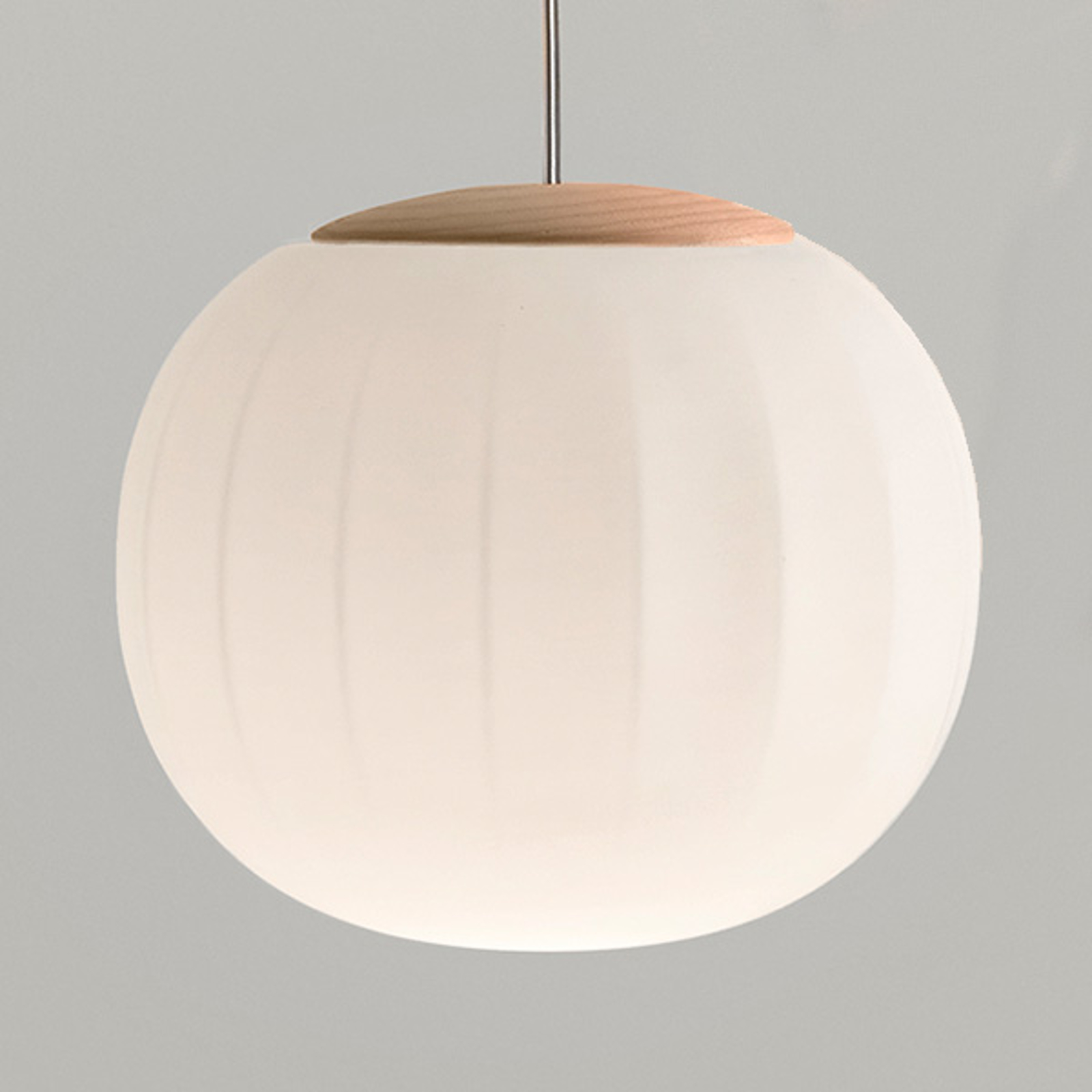 Luceplan Lita lampa wisząca zawieszenie jesion Ø18