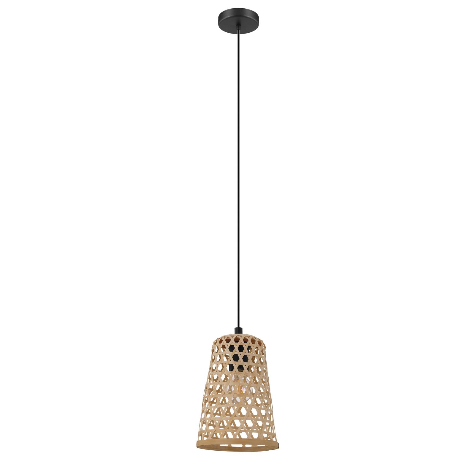 Lampa wisząca Claverdon z plecionym kloszem 18cm