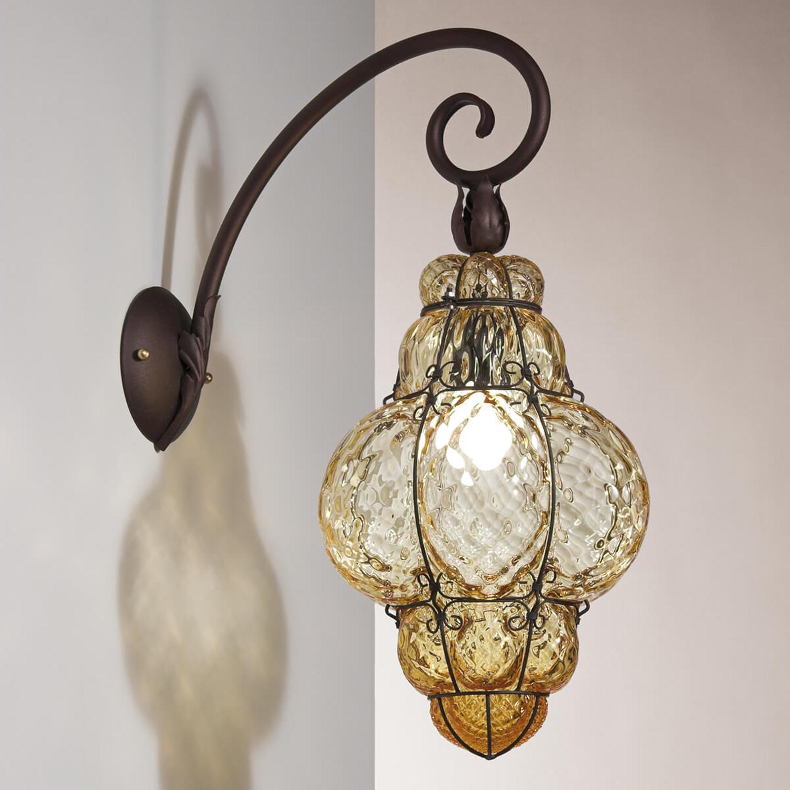 Classic væglampe, hængende, ravgul