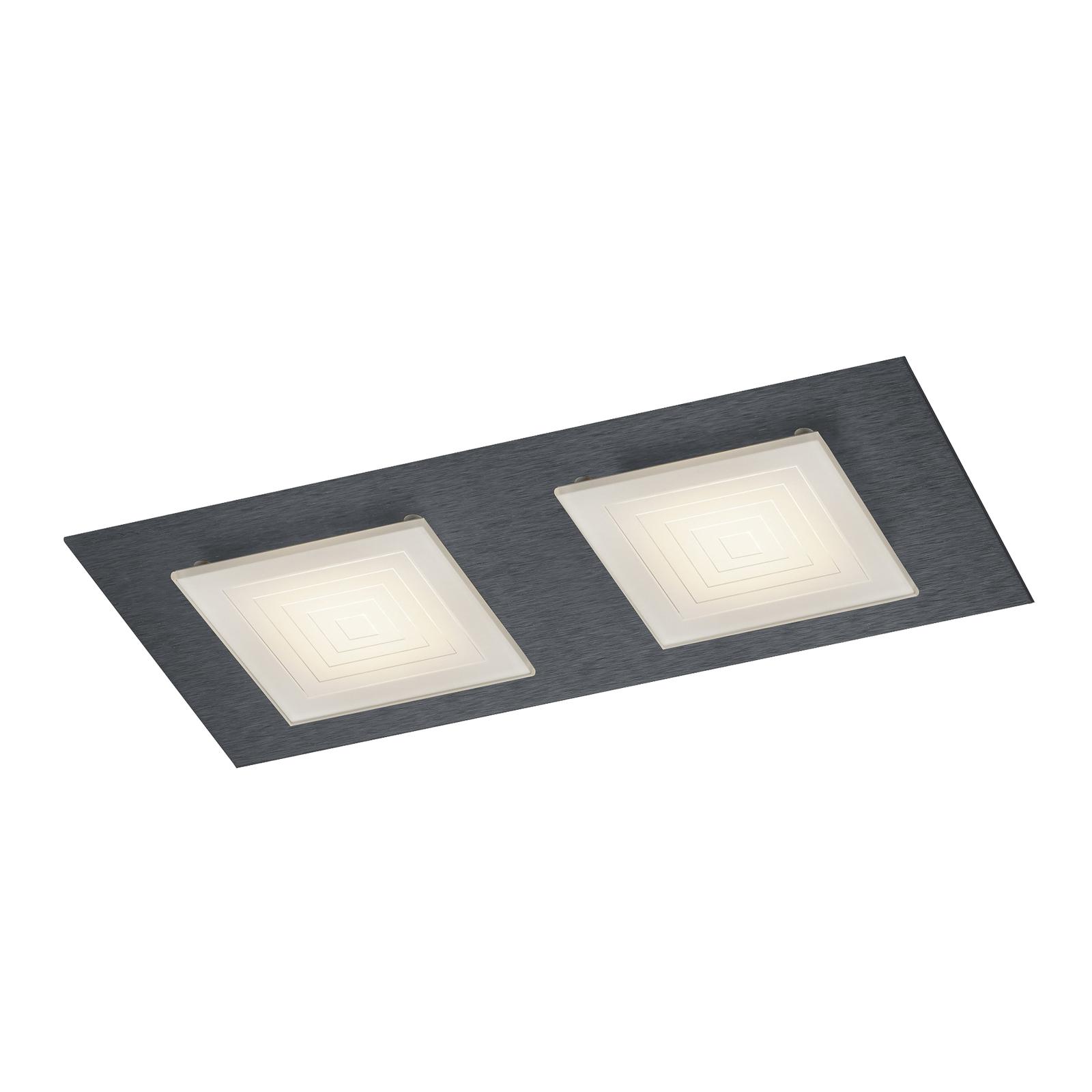 BANKAMP Ino LED-Deckenleuchte 2-flammig anthrazit