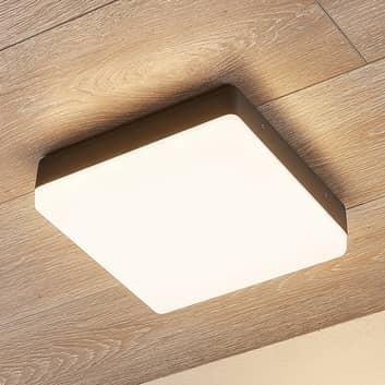Plafonnier LED Thilo, IP54, gris, 24cm