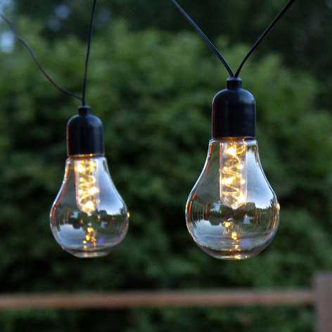 LED-lyskæde Glow, Batteri, klar