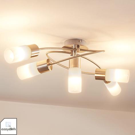 Dimbar LED-taklampe Erva, 5 lys