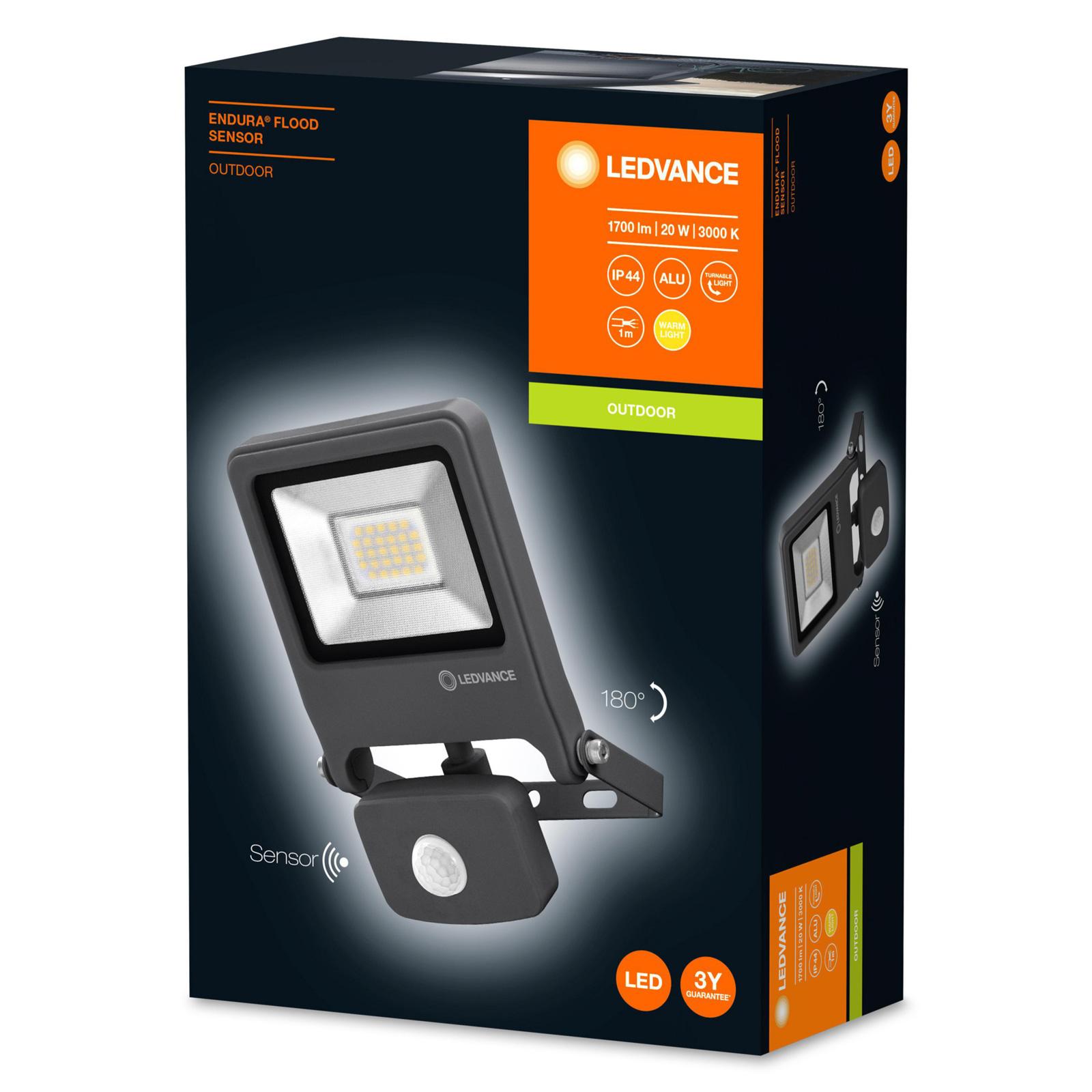 LEDVANCE Endura Flood Sensor spot LED 20W 830 DG