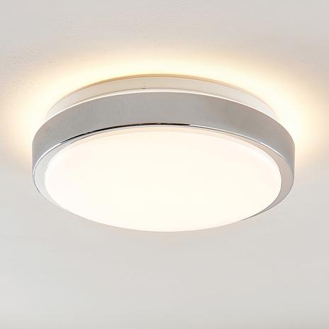 Lindby Camille lampa sufitowa LED Ø33cm chrom
