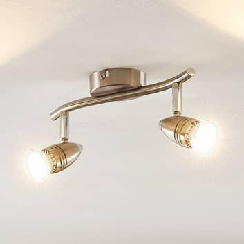 ELC Kalean LED stropní svítidlo nikl, 2žárovkové