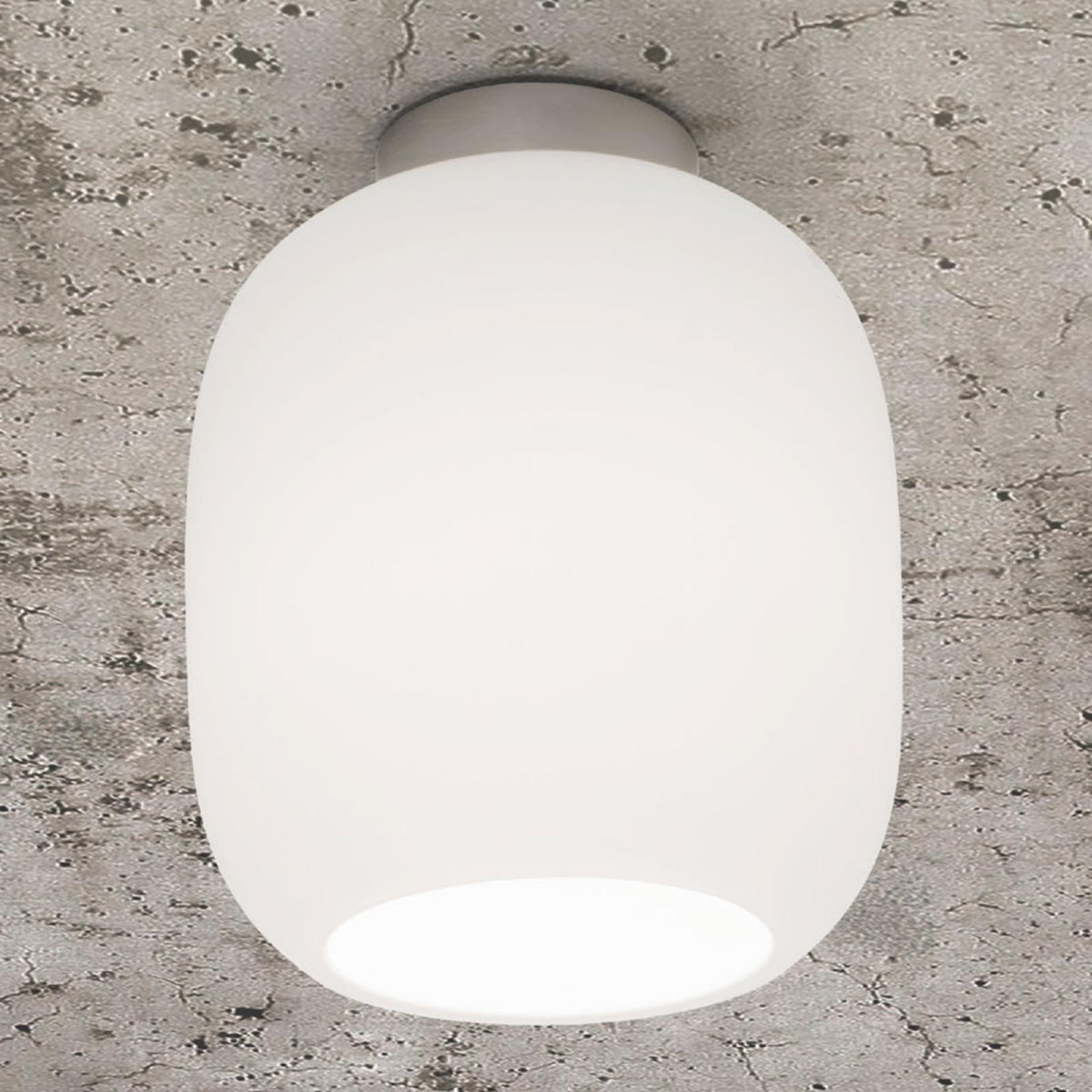 Casablanca Murea plafondlamp, opaalwit, Ø 13 cm