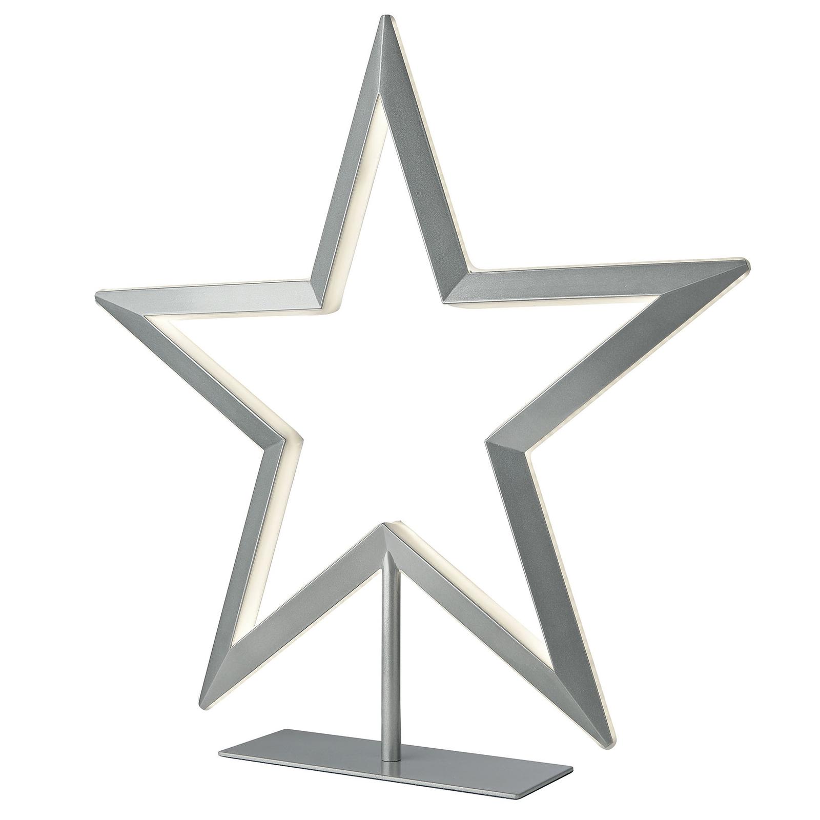 Oświetlenie dekoracyjne LED Gwiazda srebrna