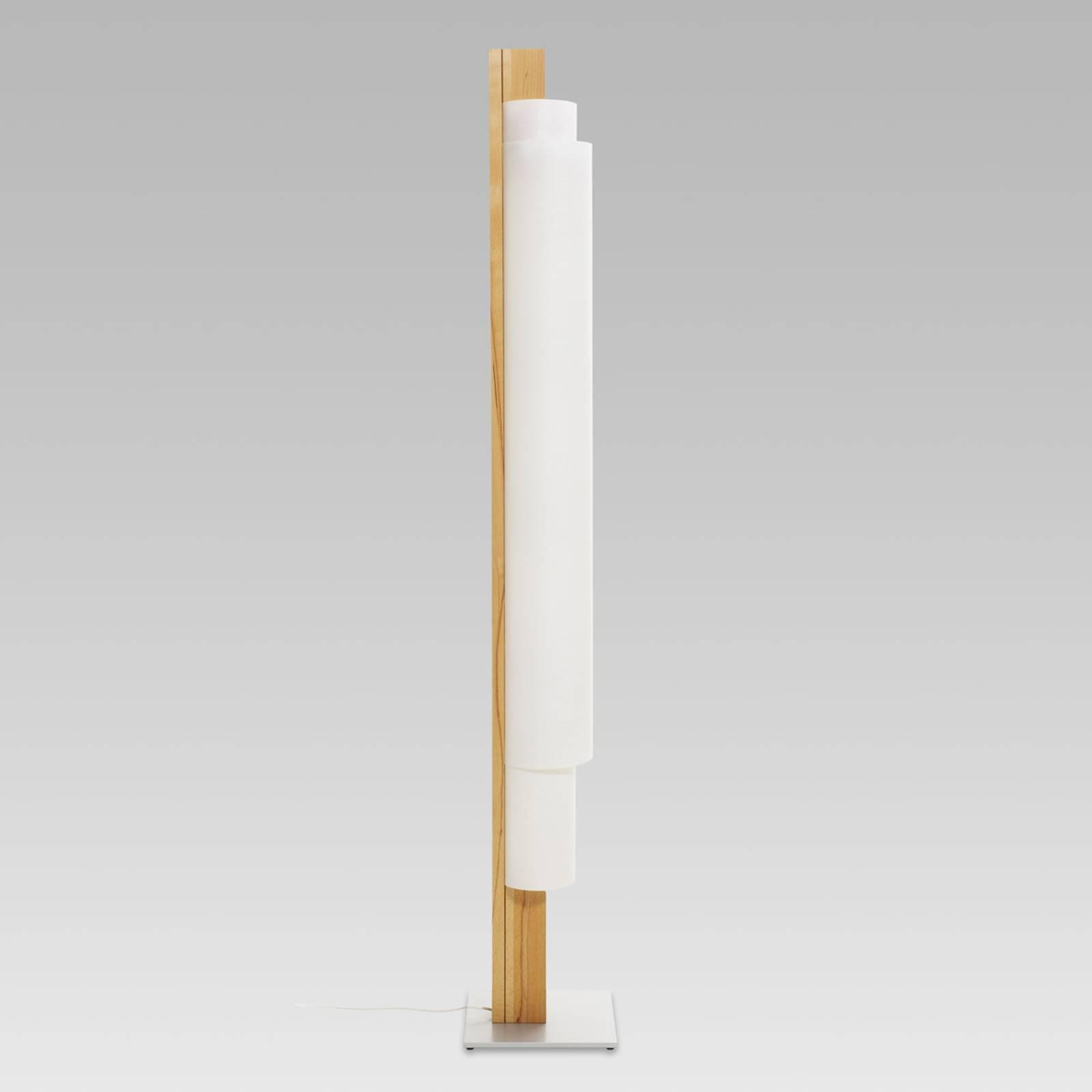 STELE - lampa stojąca LED z buka twardzielowego