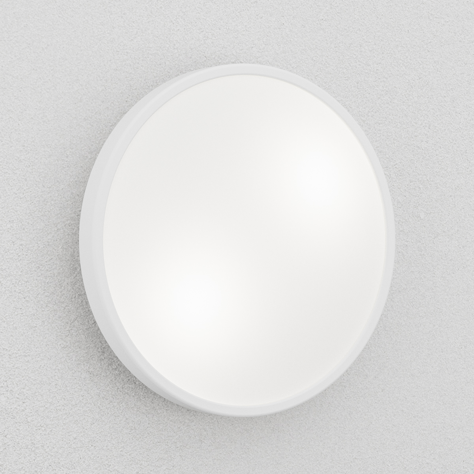 Hvit PLAZA taklampe og vegglampe 31cm