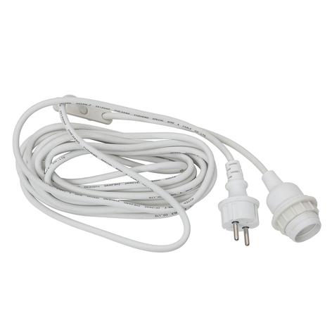 E27-fatning med kabel Ute