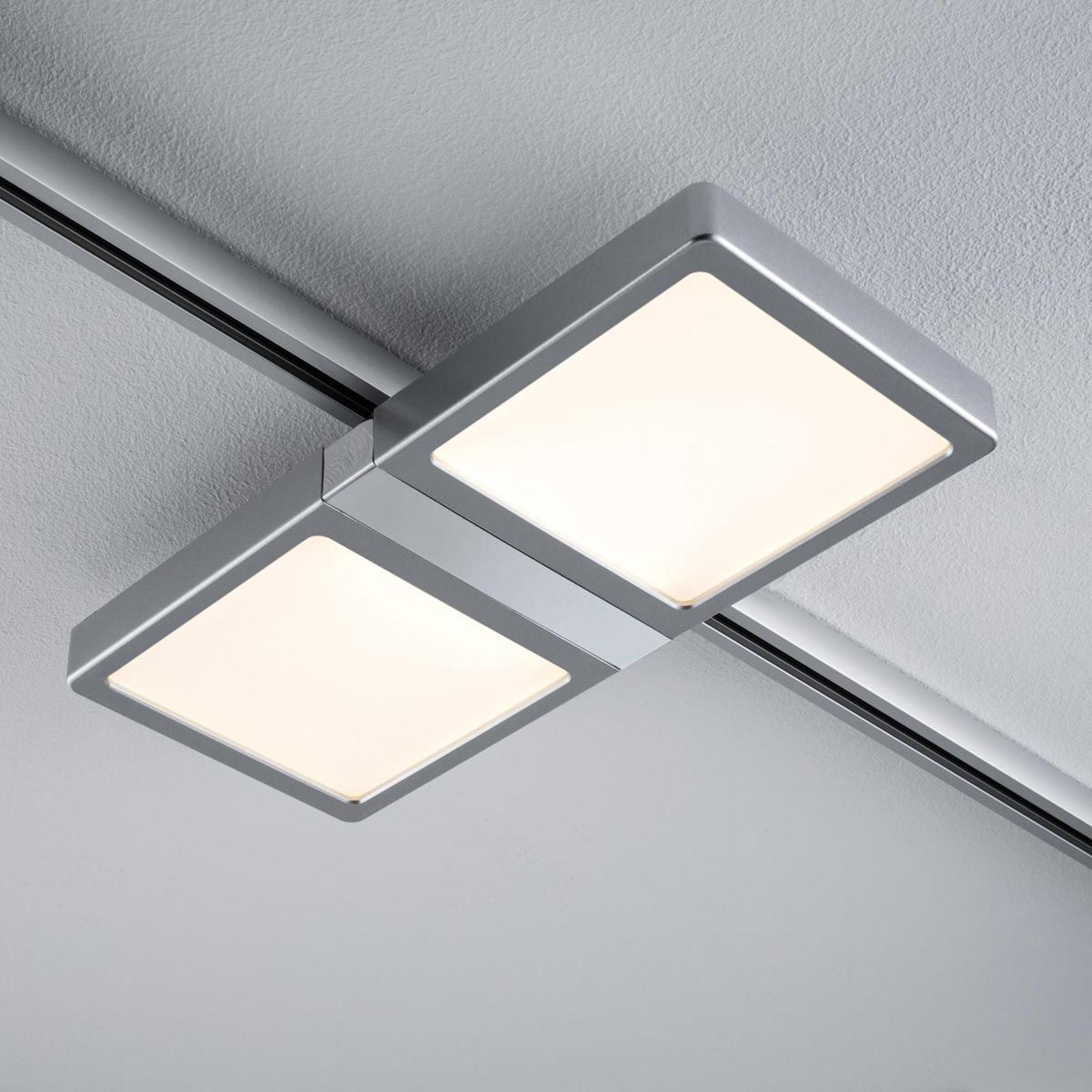 Paulmann URail Double panneau LED en chromé mat