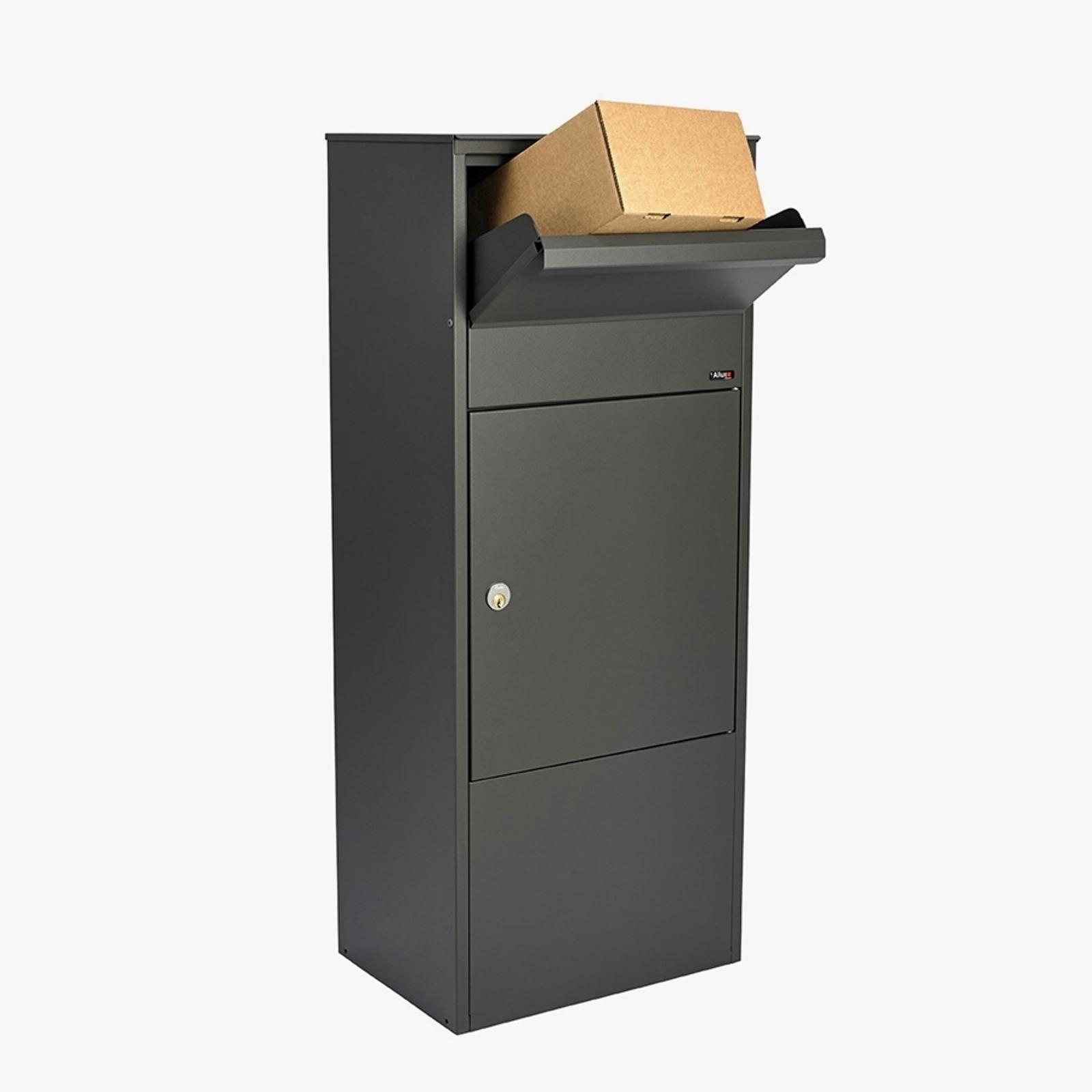 Große Brief- und Paketbox 800, anthrazit