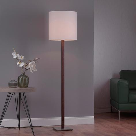 Lucande Elif lámpara blanca angular roble colonial