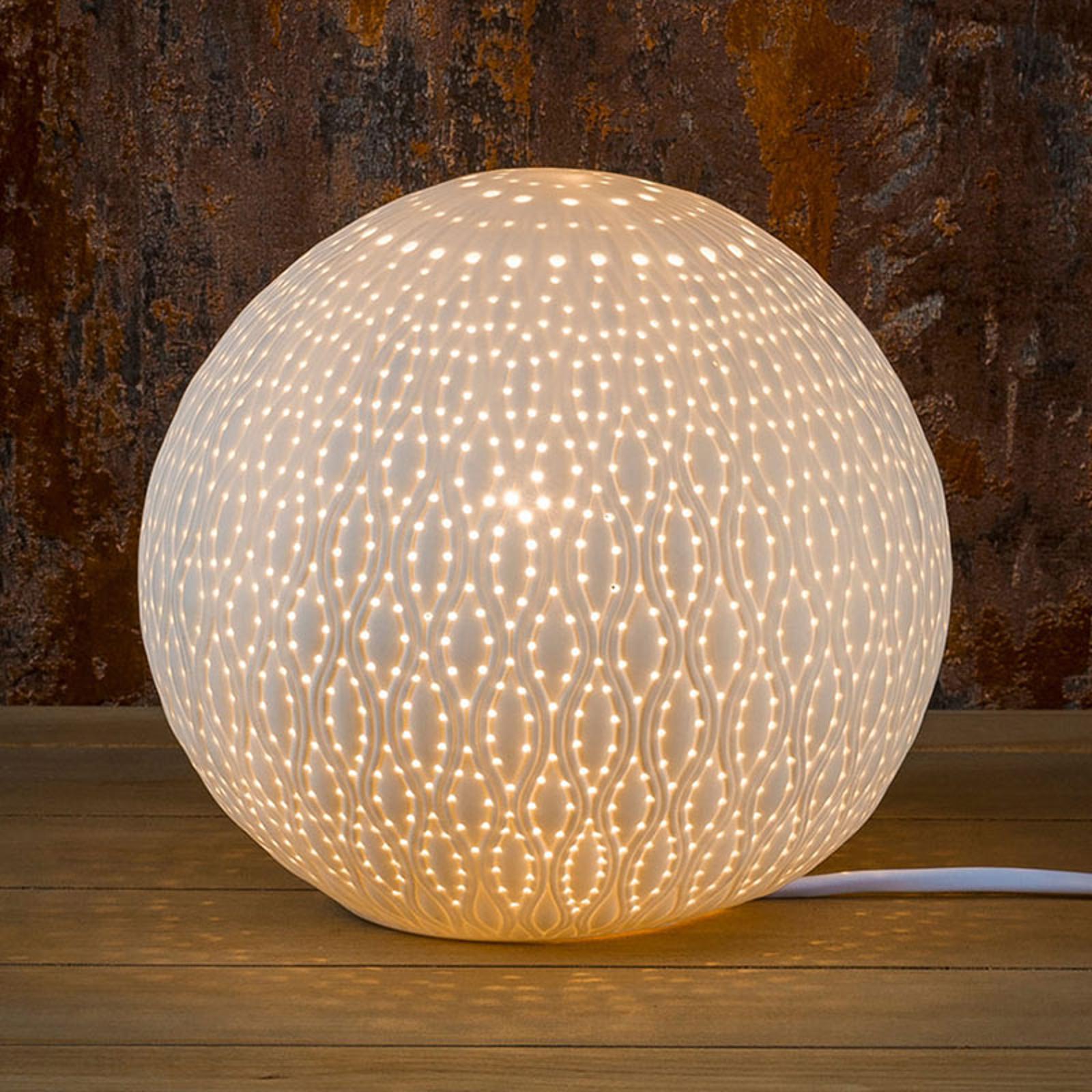 Saico Dekoračná lampa Orient z porcelánu