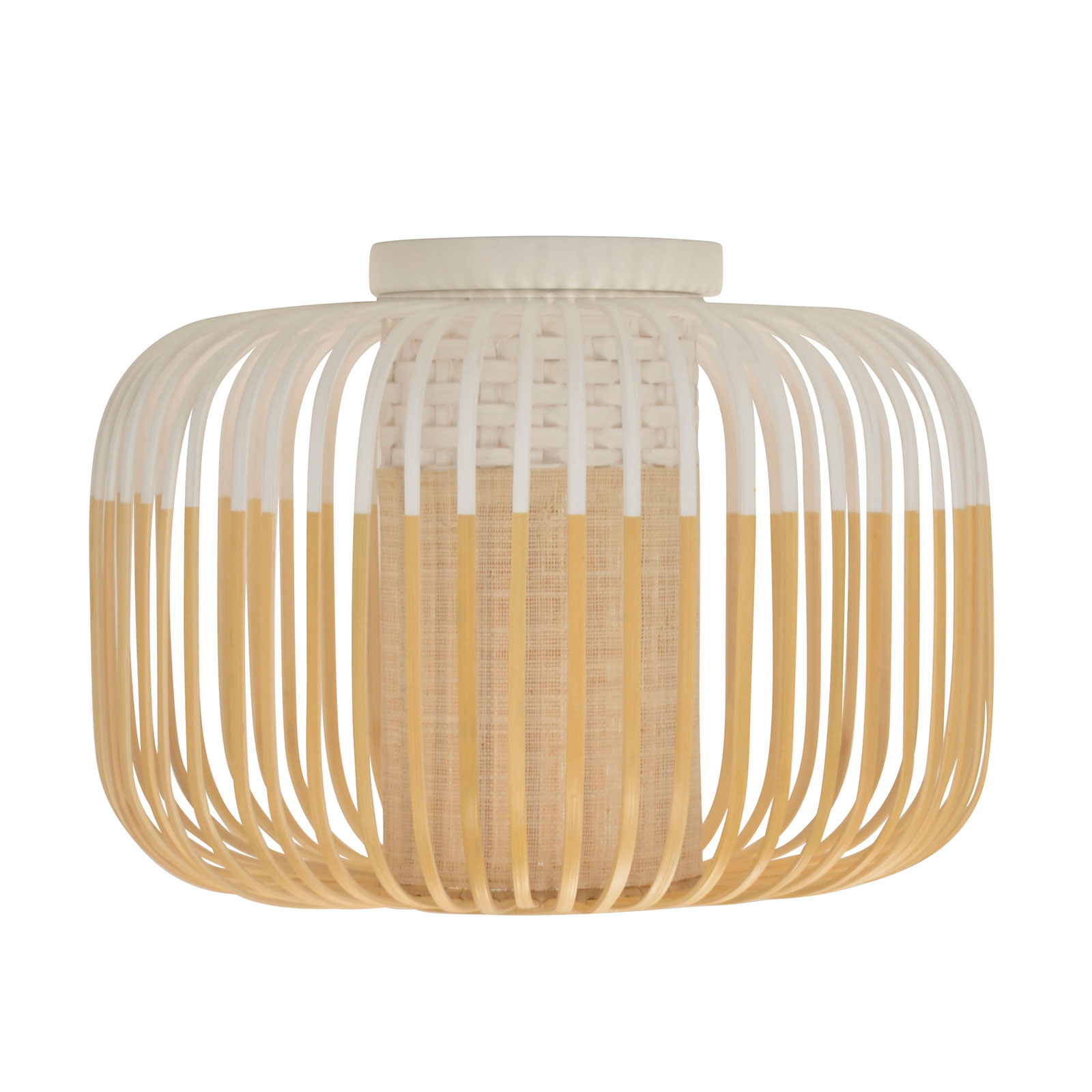 Forestier Bamboo Light S plafondlamp 35cm wit