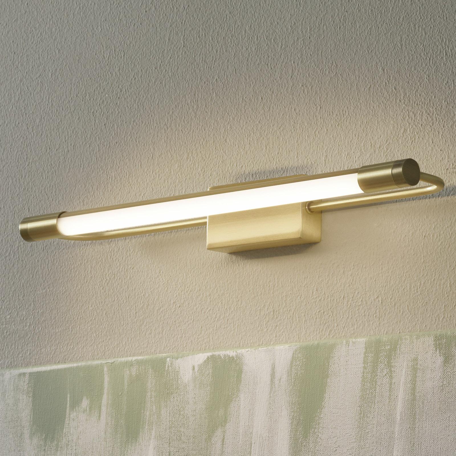 LED-vegglampe Rapallo, messing, IP44, 40 cm