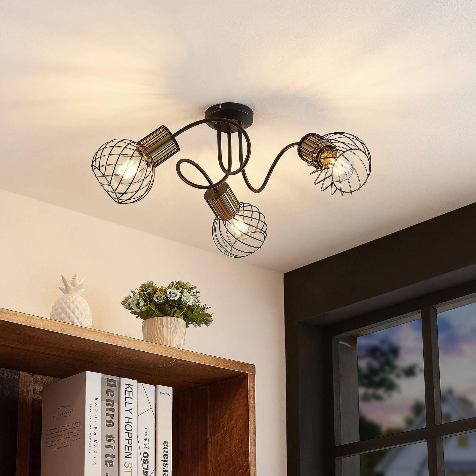 Lindby Cornel lampa sufitowa, 3-punktowa