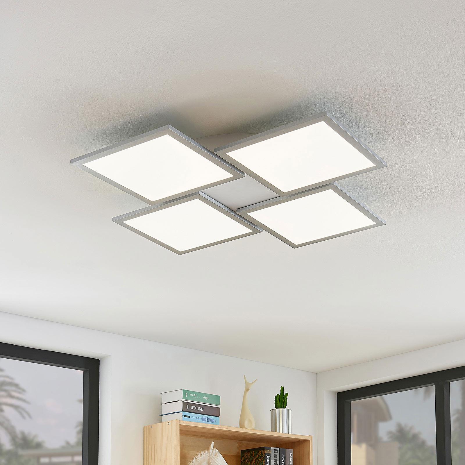 Plafoniera LED Ilira, dimmerabile, CCT, 4 luci