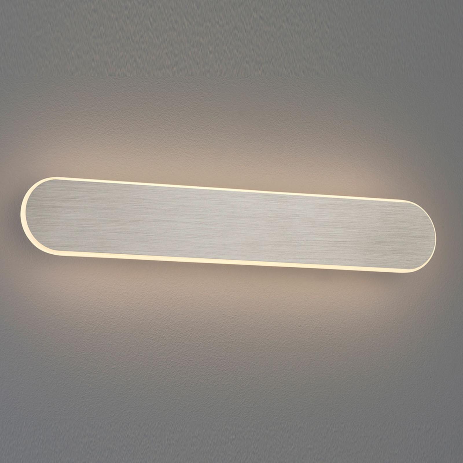 LED wandlamp Carlo, SwitchDim, 50 cm, nikkel mat