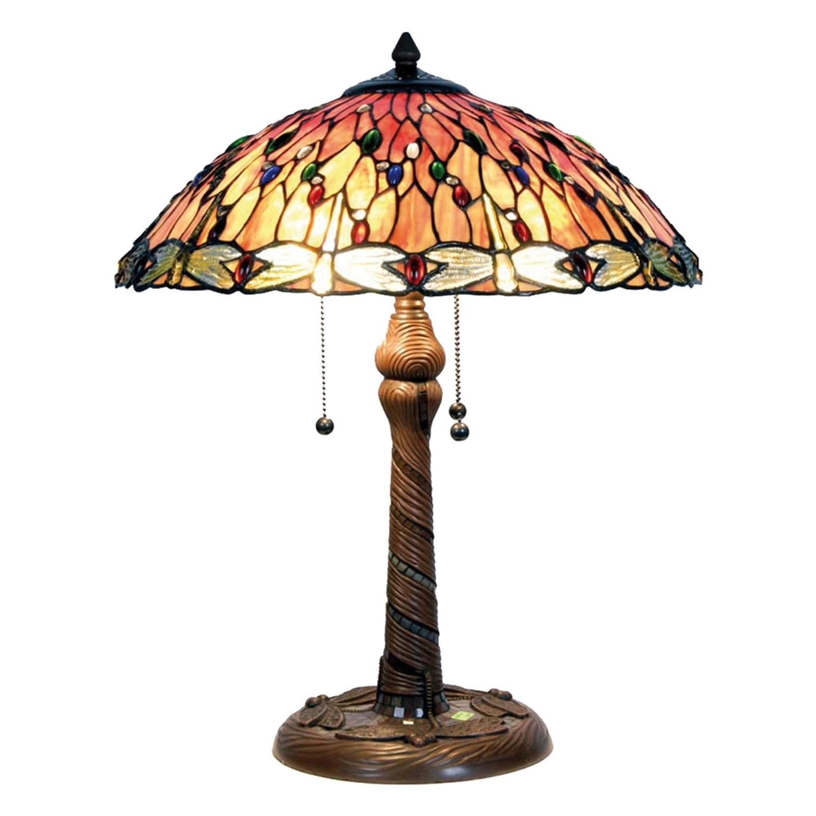 Sprookjesachtige tafellamp Bella in Tiffany-stijl
