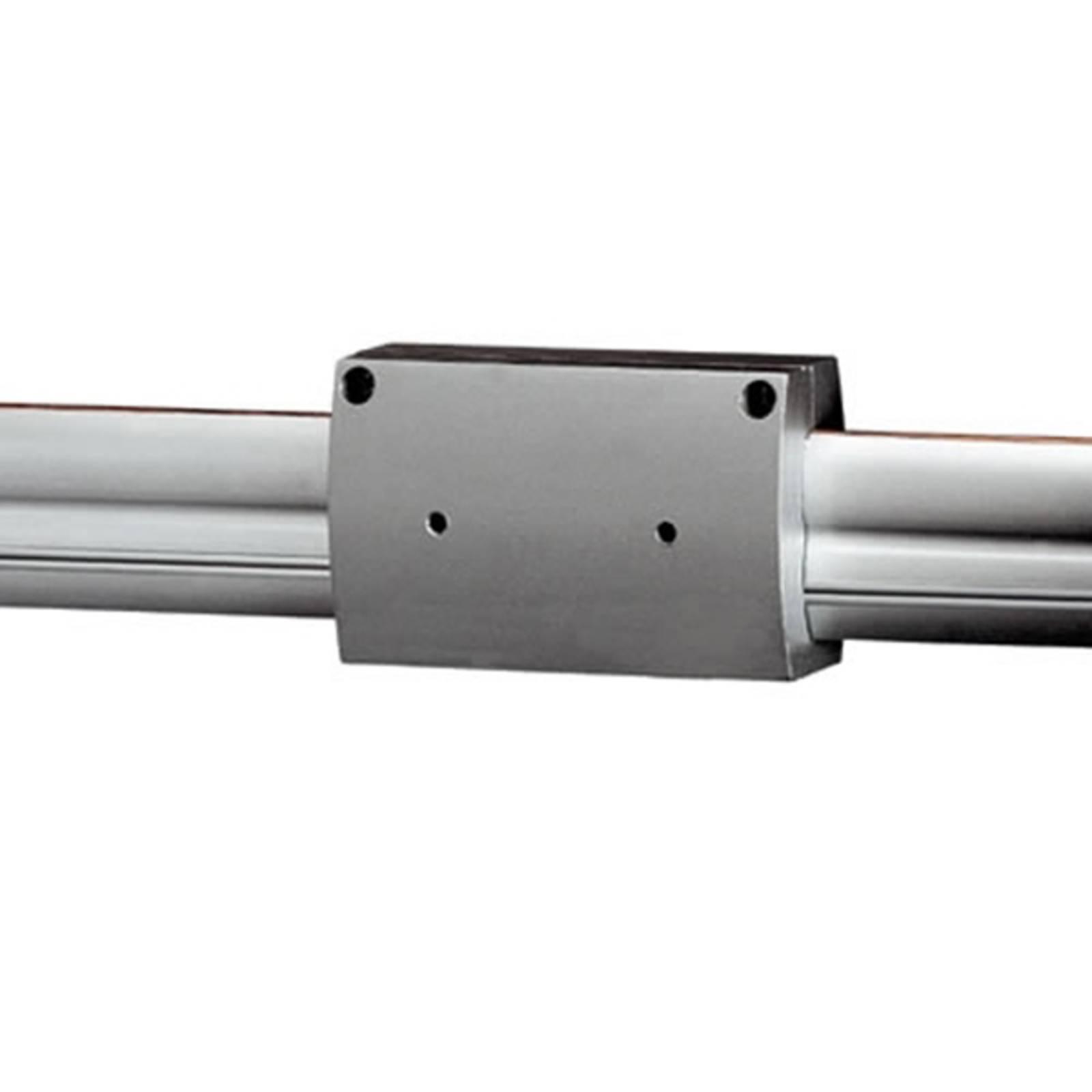 Connettore diritto per binario a.t. grigio argento