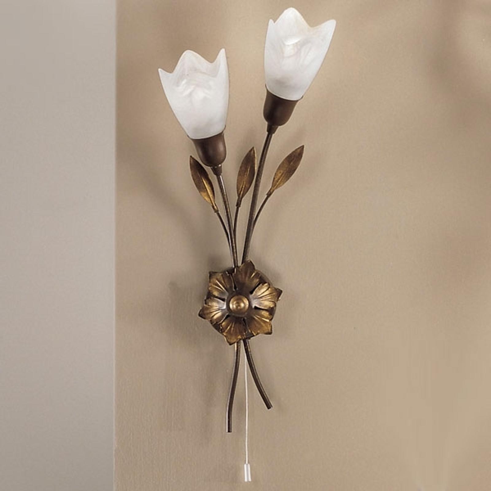 Wandlamp CAMPANA lange bloem rechts