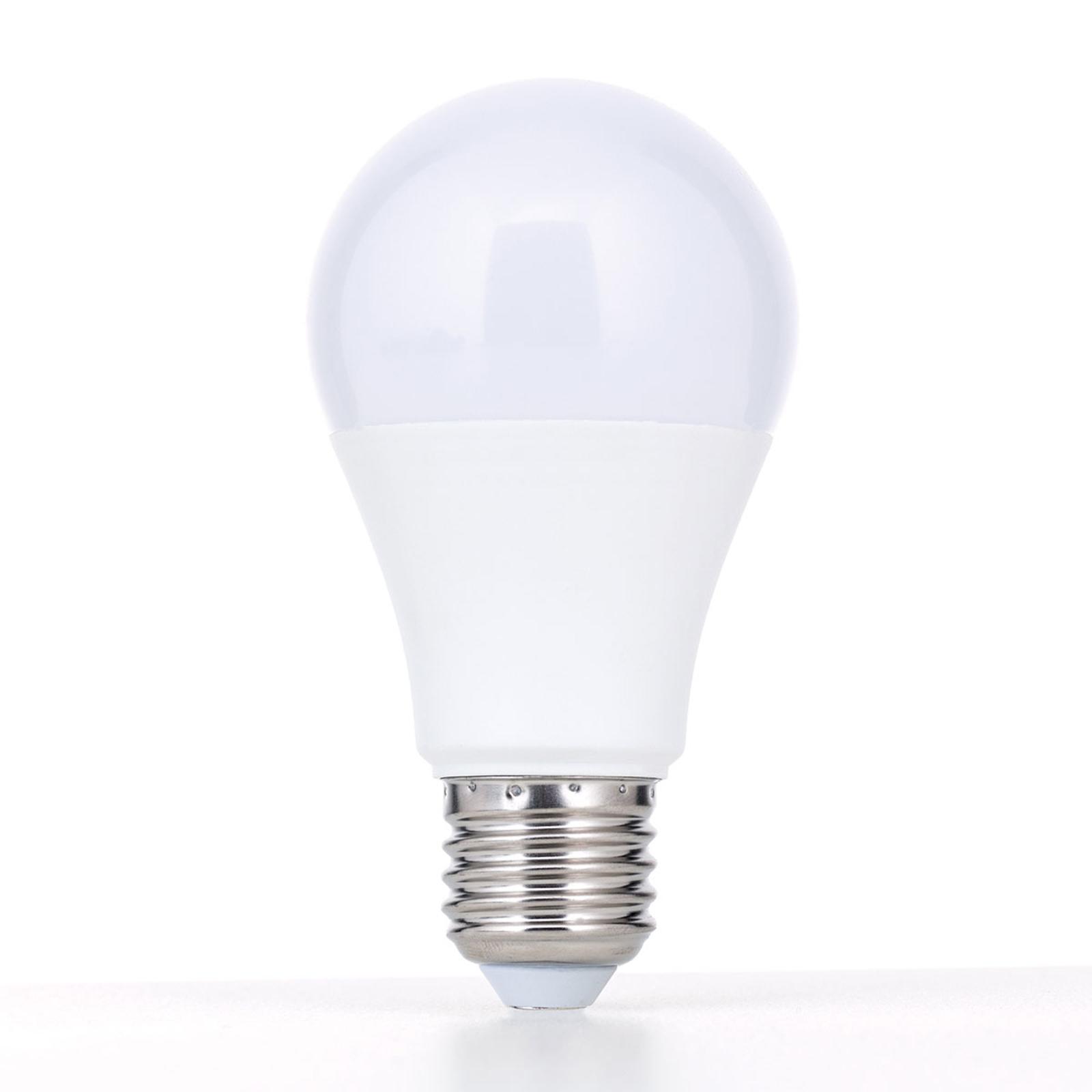 E27 LED 5W opale bianco caldo non dimmerabile
